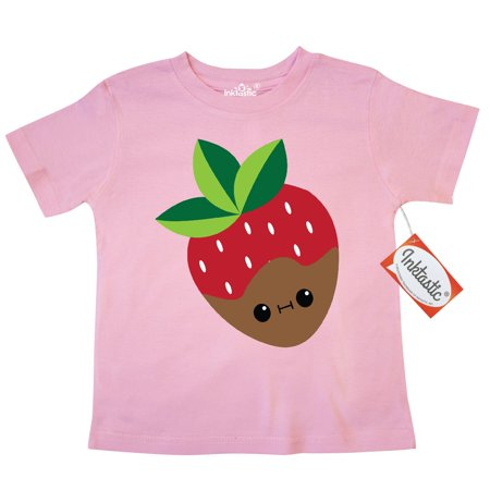 Inktastic Kawaii Chocolate Strawberry Toddler T Shirt Sweet Treat Food Covered