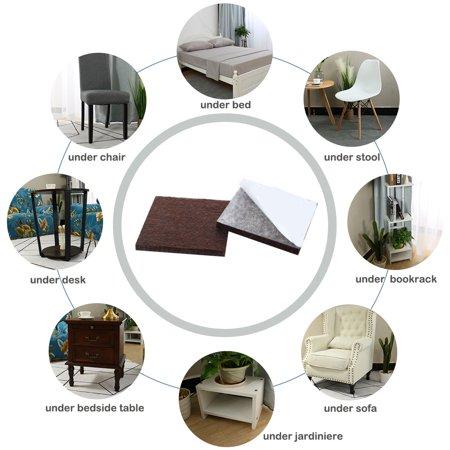 "Felt Furniture Feet Pads Square 3/4"" Self Adhesive Feet Floor Protector 80pcs - image 1 of 7"