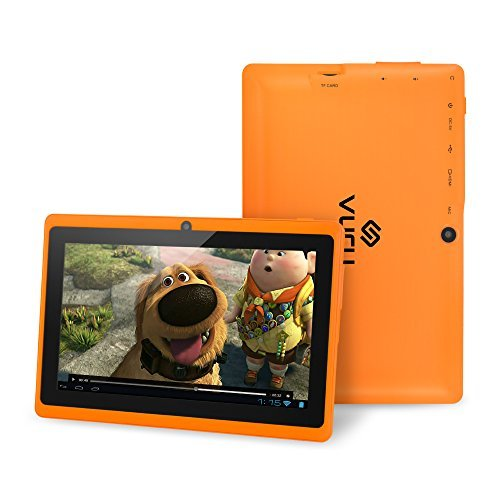 VURU A33 8GB Quad-Core Touchscreen Android Tablet 7 inch with Wi-Fi a Runs Android OS 4.4 a Features Front & Rear Cameras, Bluetooth, 1024 x 600 Resolution & Rechargeable 3000mAh Battery - Orange
