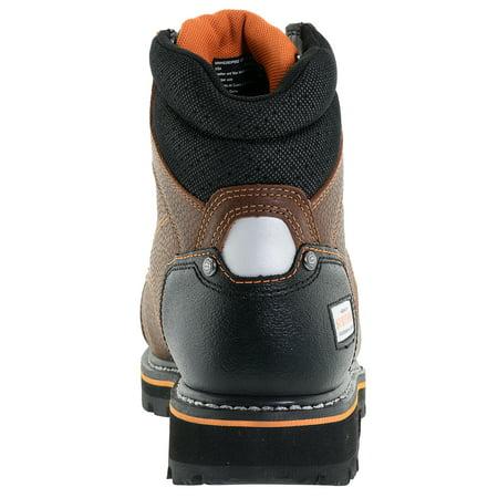 Herman Survivor Professional Series Men's Shoveler 6 Inch Work Boot, ASTM Rated Steel Toe, Slip Resistant, Brown and Black