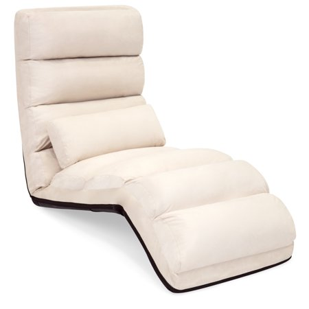 - Best Choice Products Folding Floor Lounge Sofa Chair w/ Pillow (Beige)