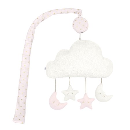 - Just Born® Sparkle Pink Stars Musical Mobile