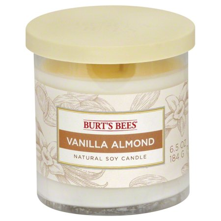 Burts Bees 115304 6.5 oz Vanilla Almond Soy 2-Wick Jar Candle, Pack of 4