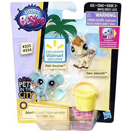 Pets in the City Adorable Duos Malik Greystone 333 & Zenzo Sandcastle 334, Pets in the city By Littlest Pet Shop Ship from (Toys R Us Littlest Pet Shop Fairies)