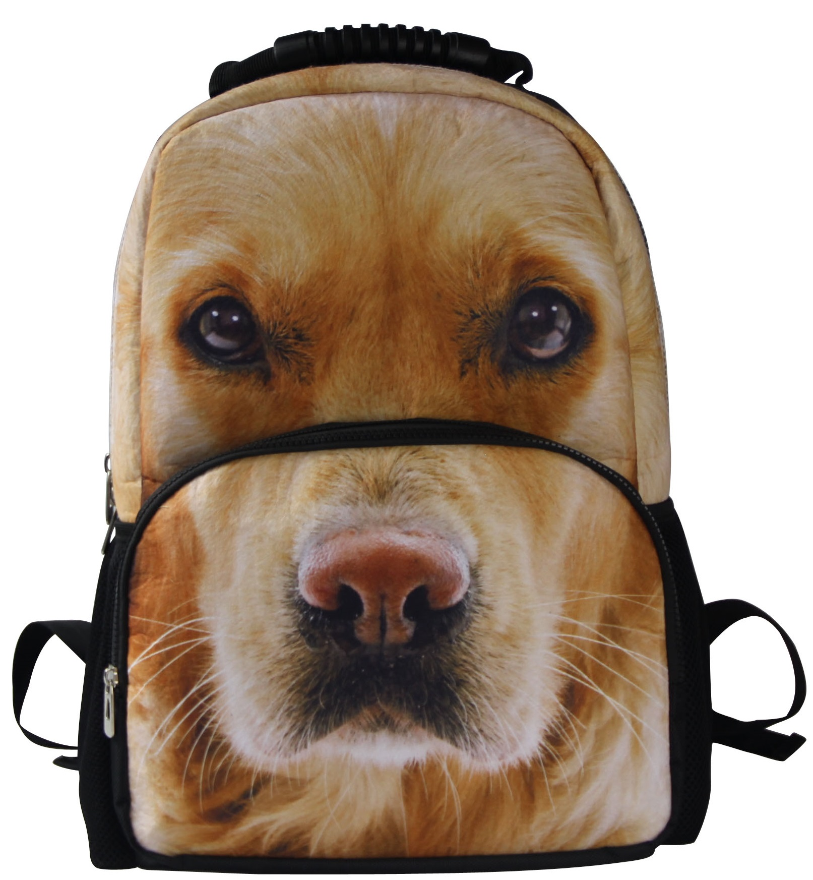 Yellow Lab Dog Backpack 3D Deep Stereographic on Felt Fabric