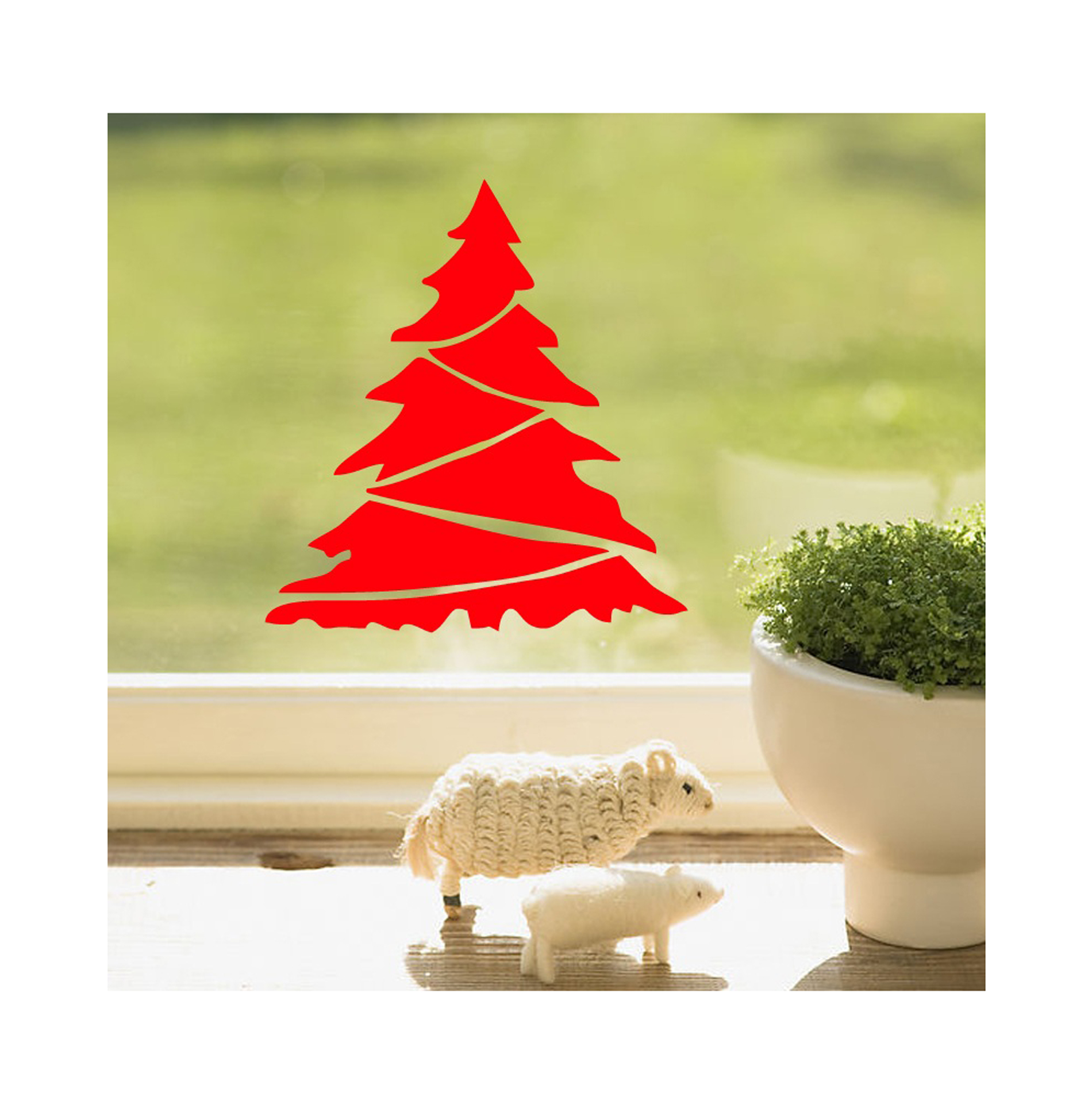 8pcs Merry Christmas Tree Store Showcase Cabinet Shop Wall Window ...