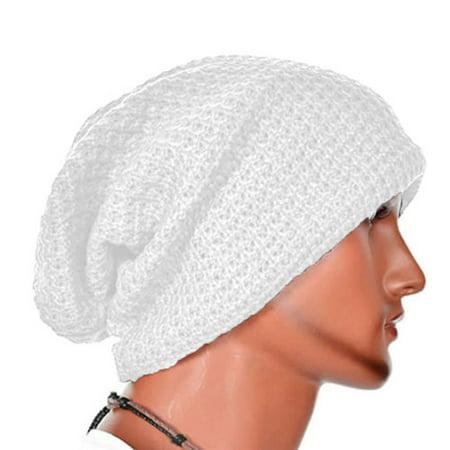 4d820a26c6473 Men Knitting Slouchy Beanie Cap Baggy Winter Hat Oversize Unisex Skateboard  Caps - Walmart.com