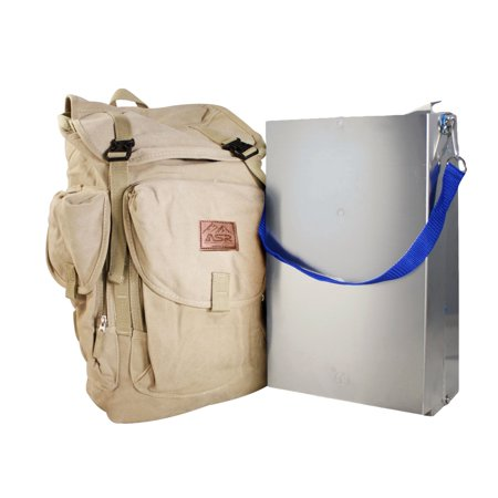 ASR Outdoor Gold Rush Portable Aluminum Folding Prospecting Sluice Box Set (Backpack Sluice Box)