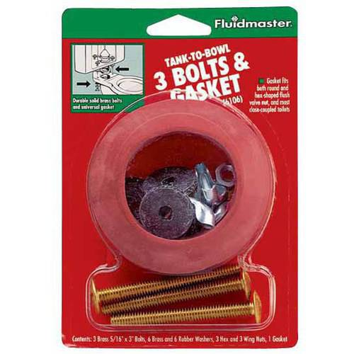 Fluidmaster 6106 Tank-To-Bowl, 3 Bolts and Gasket