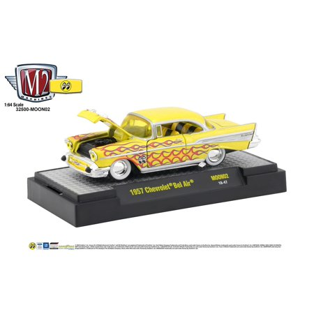 M2 Machines MOONEYES 1957 Chevrolet Bel Air  - Yellow with (Bel Air Stores)