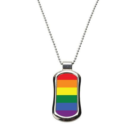 LGBT Pride Dog Tag Necklace - Gay Pride Necklaces