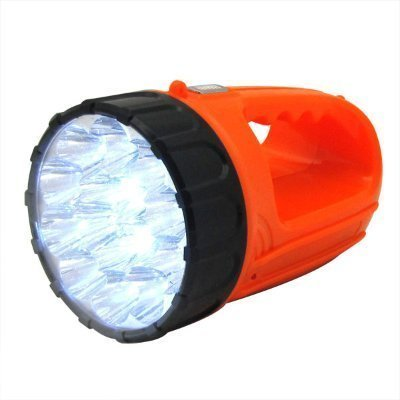 - 15 L.E.D. High Powered Rechargeable LED Flashlight Wall Socket Charging Flash Light Design (with Carry Sling)