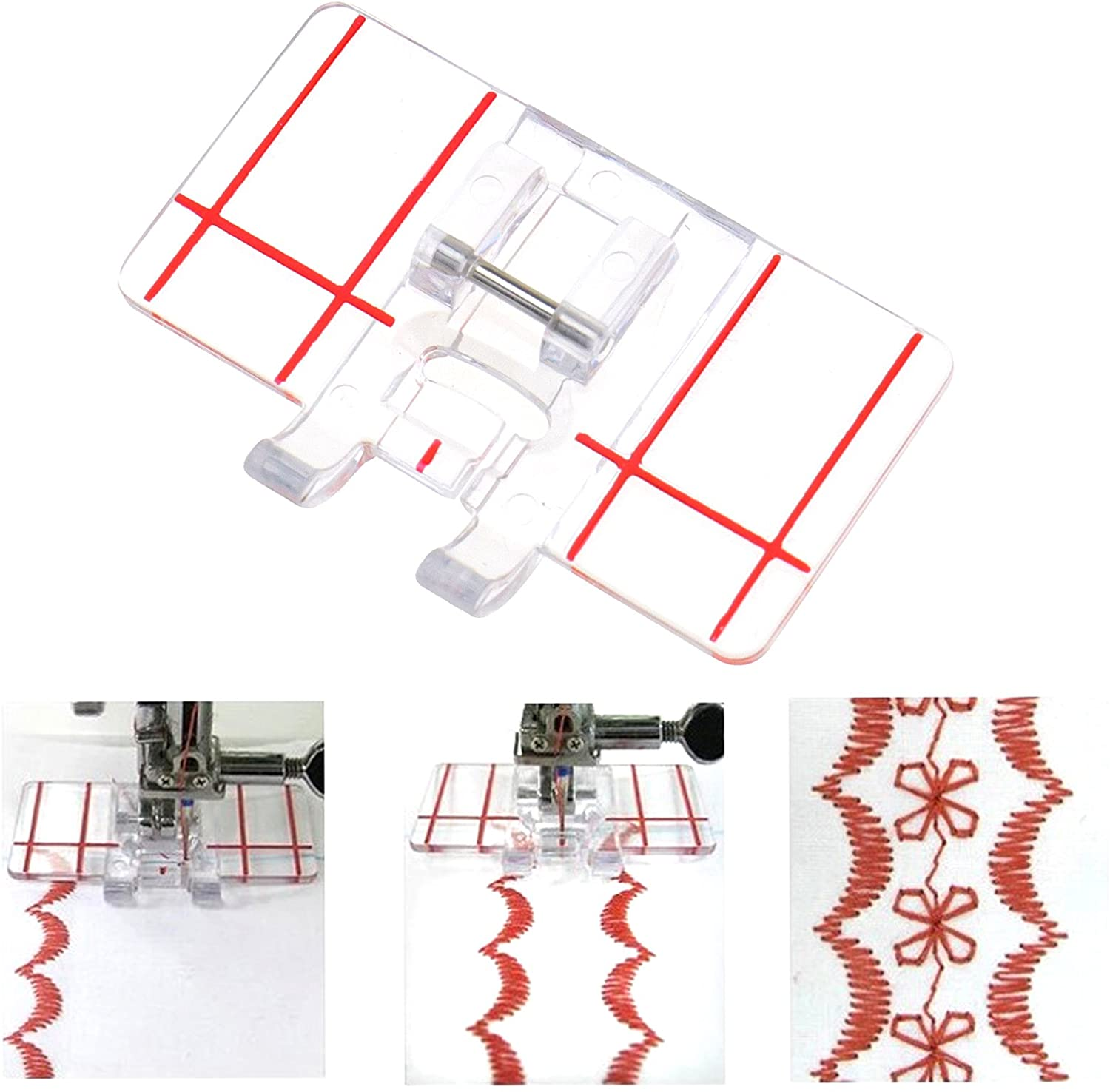 Border Guide Sewing Machine Presser Foot Fits All Low Shank Snap Sewing Tool