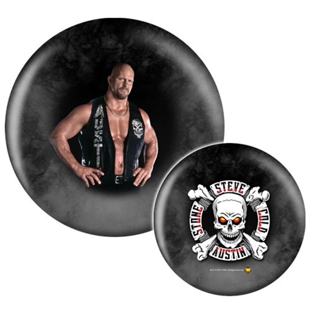 WWE Wrestlemania Superstar Stone Cold Steve Austin Bowling Ball- Limited Edition (15lbs)