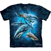 Shark Collage Youth T-Shirt by The Mountain - 153304