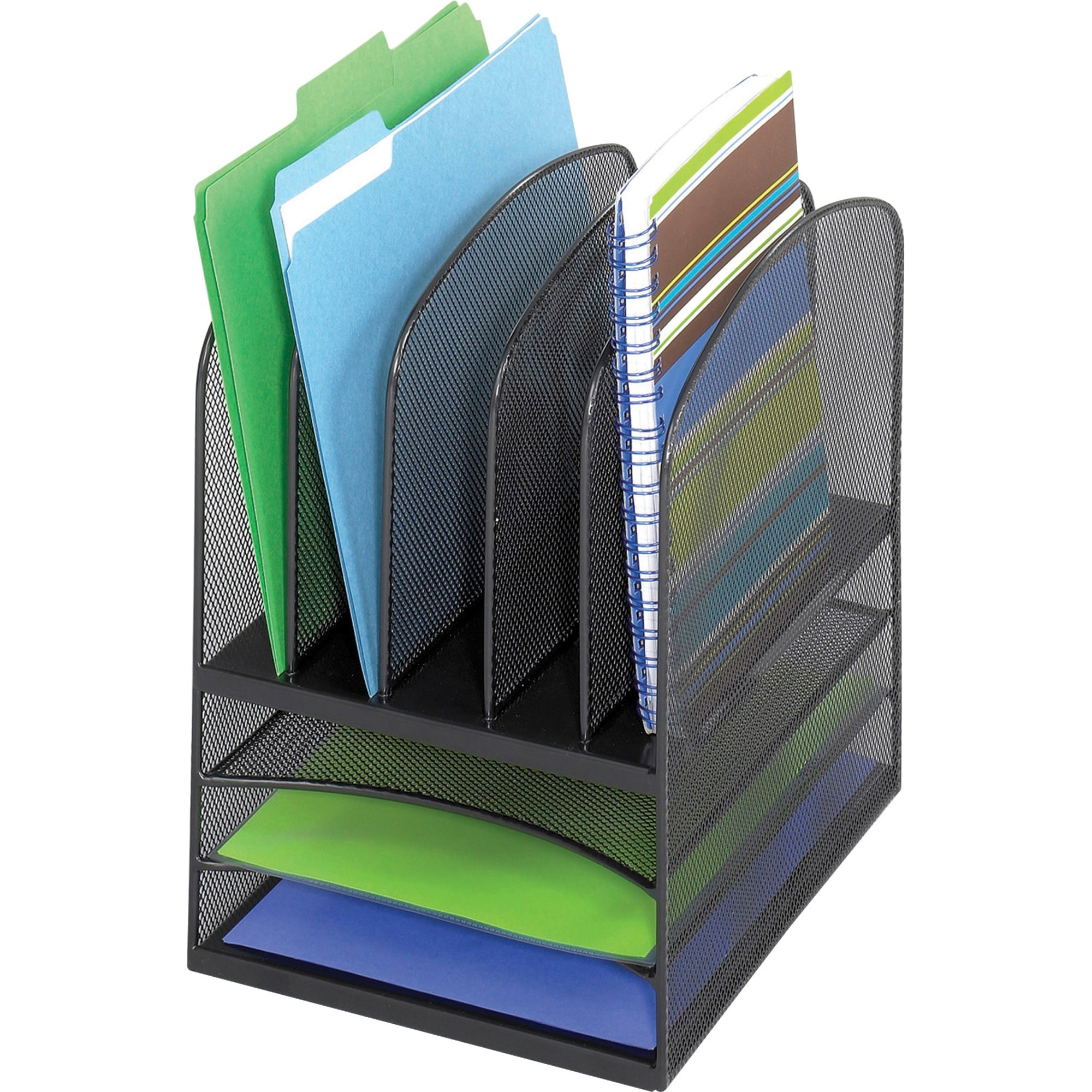 Safco, SAF3266BL, Onyx Mesh Letter Tray Desktop Organizer, 1 Each, Black