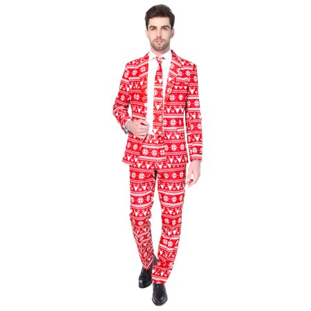 Xmas Suit (Suitmeister Men's Christmas Red Nordic Christmas)