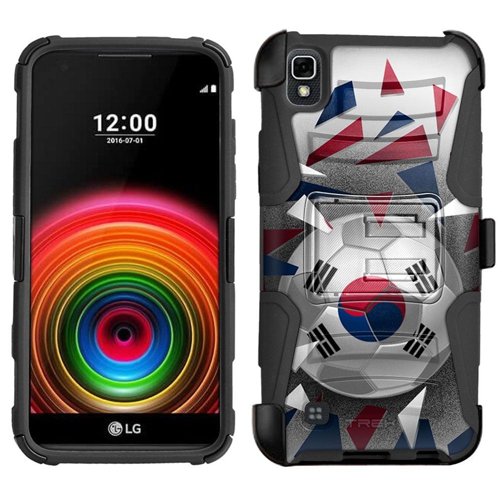 LG X Power Armor Hybrid Case Soccer Ball Korea Flag by Trek Media Group