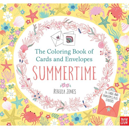 The Coloring Book of Cards and Envelopes: Summertime - Summer Coloring Pages To Print
