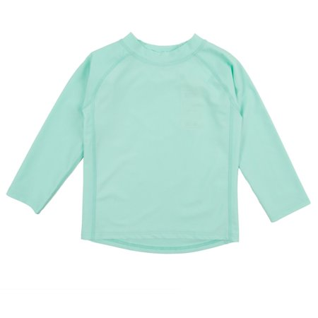 Leveret Long Sleeve Baby Boys Girls Rash Guard Sun Protected UPF + 50 Kids & Toddler Swim Shirt (Size 12 Months-5 Toddler)