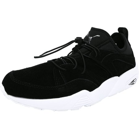 Puma Men's Blaze Of Glory Soft Black Ankle-High Suede Running Shoe - 8.5M - image 1 de 1
