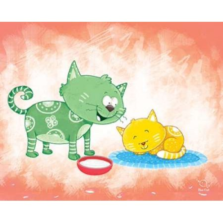 Fish Kitty (Kitty Koo Poster Print by Blue Fish (8 x)
