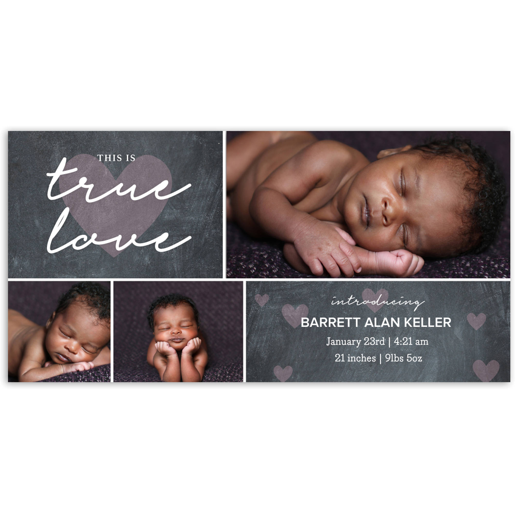 True Love Baby Announcement