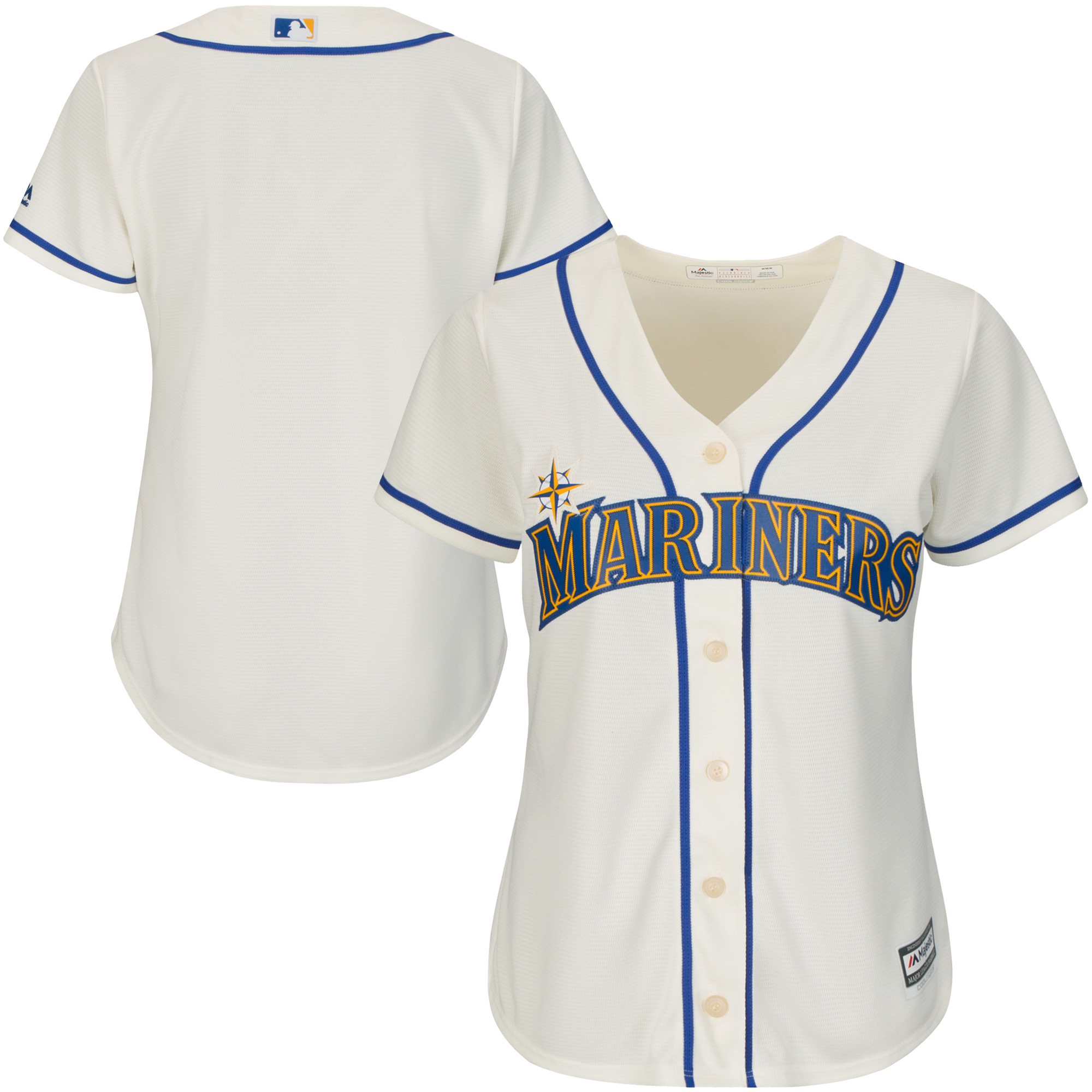 Seattle Mariners Majestic Women's Cool Base Jersey - Cream
