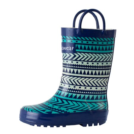 Oakiwear Kids Rain Boots For Boys Girls Toddlers Children, Tribal](Girls Clearance Boots)