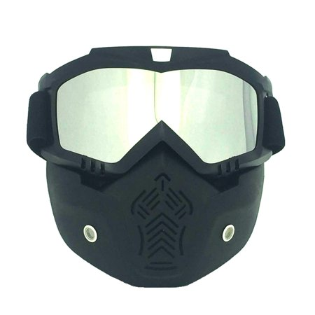 b06ae0559c Winter Snow Sport Goggles Ski Snowboard Snowmobile Face Mask Sun Glasses  Eyewear (Matte Black Frame and Silver Plating Eyeglass) - Walmart.com