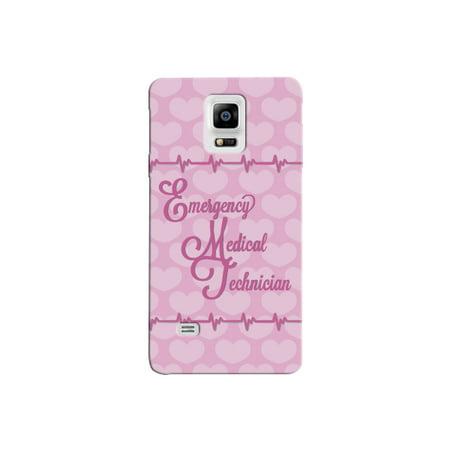 - Emergency Medical Technician EMT Print Pink Heart Beat Pattern Background Design Medical Phone Case for the Samsung No