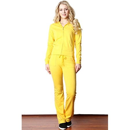 3ae23128d Fashion Secrets - Fashion Secrets Women's Cotton French Terry Lycra Lounge  Jog Set,Track Suit . (Yellow, Medium) - Walmart.com