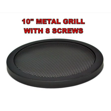 """10"""" INCH CAR SPEAKER WOOFER STEEL MESH GRILL WITH SPEED CLIPS AND SCREWS"""