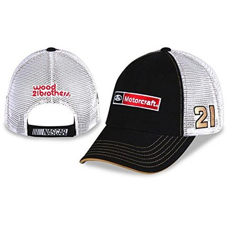 NASCAR Adult Sponsor Trucker Mesh Back Racing Hat / Cap (#21 Ryan Blaney)