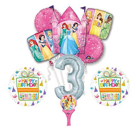 Disney Princess Baby Shower (New! 9pc Disney Princess 3rd BIRTHDAY PARTY Balloons Decorations)