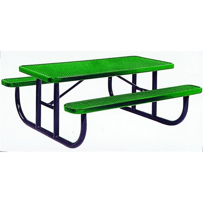 Kidstuff 9200 PVC-Steel Picnic Table- 6 ft. Long