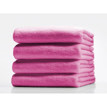 """GHP 1 Solid Bright Pink Turkish 30""""x60"""" 100% Ring Spun Cotton Absorbent Bath Towels"""