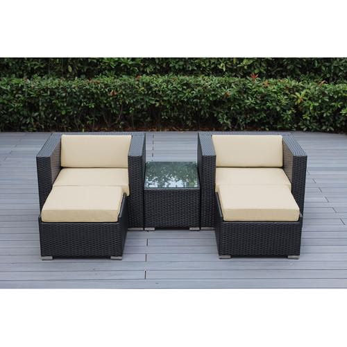 Ohana Depot Ohana 5 Piece Deep Seating Set with Cushion by