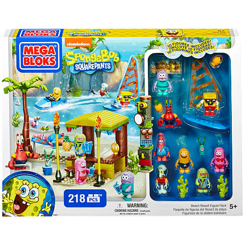 Spongebob Squarepants Beach Resort Set Mega Bloks 94621