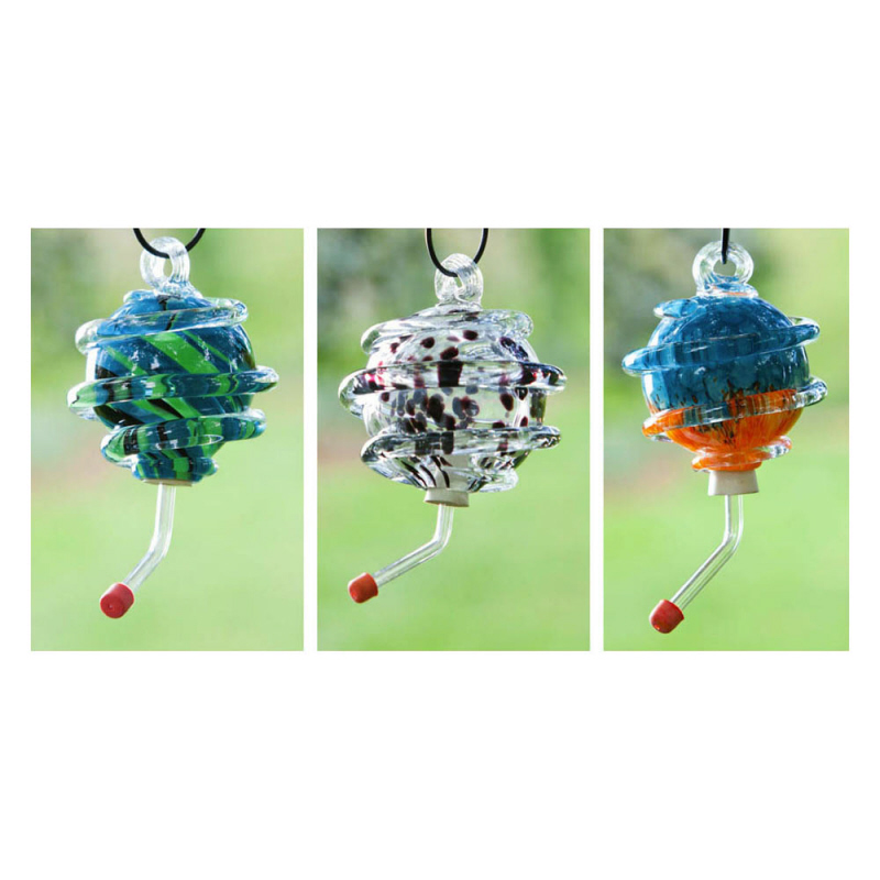 Evergreen Flag & Garden Swirled Hummingbird Feeder (Set of 3)