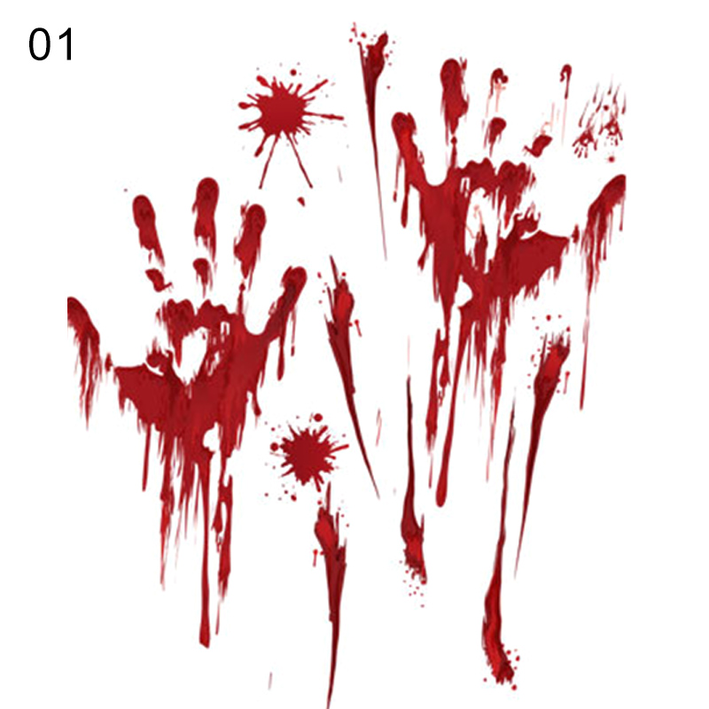 Bleeding Hands Halloween Decoration Scary Vinyl Decal Sticker Car Window WallArt