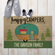 Happy Campers Personalized Doormat