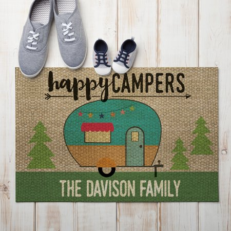Happy Campers Personalized Doormat Walmart Com