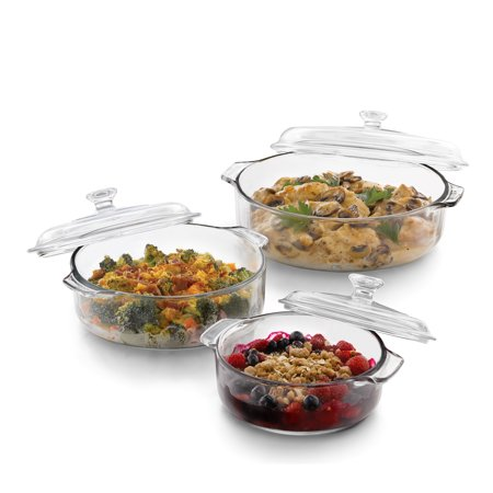 (Libbey Baker's Basics 3-piece Glass Bake Set with 3 Covers)