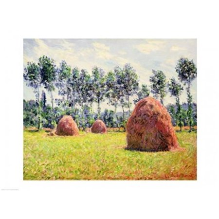 Haystacks at Giverny 1884 Poster Print by Claude Monet - 24 x 18 in. (Giverny Monet Museum)