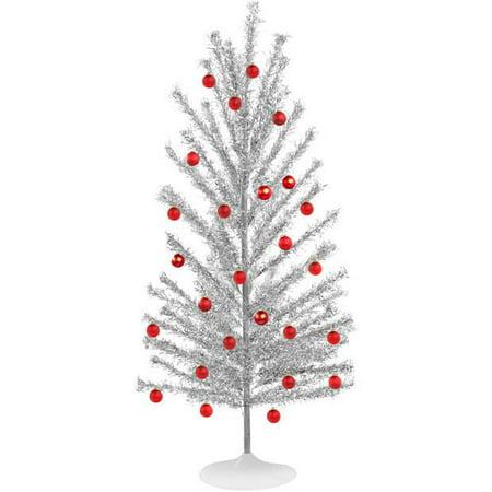 mid century modern style aluminum christmas tree