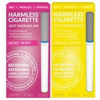 Harmless Cigarette,Mixed Berry & Original Lemon,Quit Smoking Aid,2pk