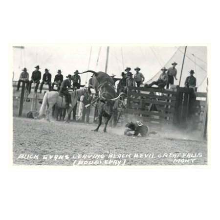 Thrown Bull-Rider, Montana Print Wall - Hand Thrown Art
