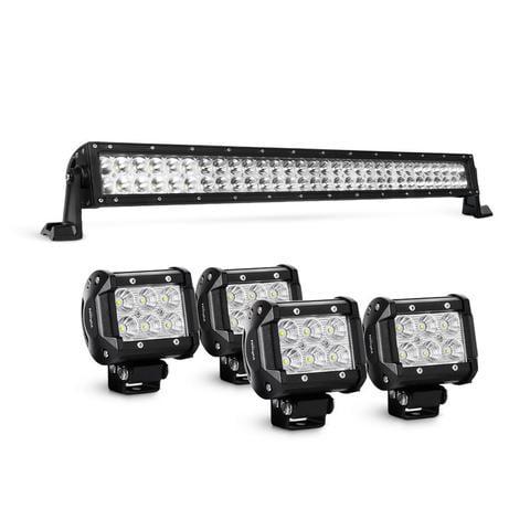 "Nilight LED Light Bar 32/"" 180W Spot Flood Combo Led Off Road Lights Free Wiring"