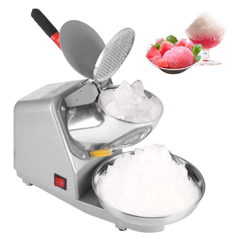 Commercial Household Manual Electric Ice Crusher w  Blade Snow Cone Maker Shaving Crusher Machine for Home Use by